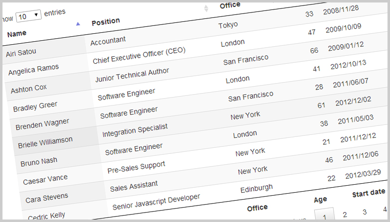 JQuery plugins for HTML tables - Entyce Creative