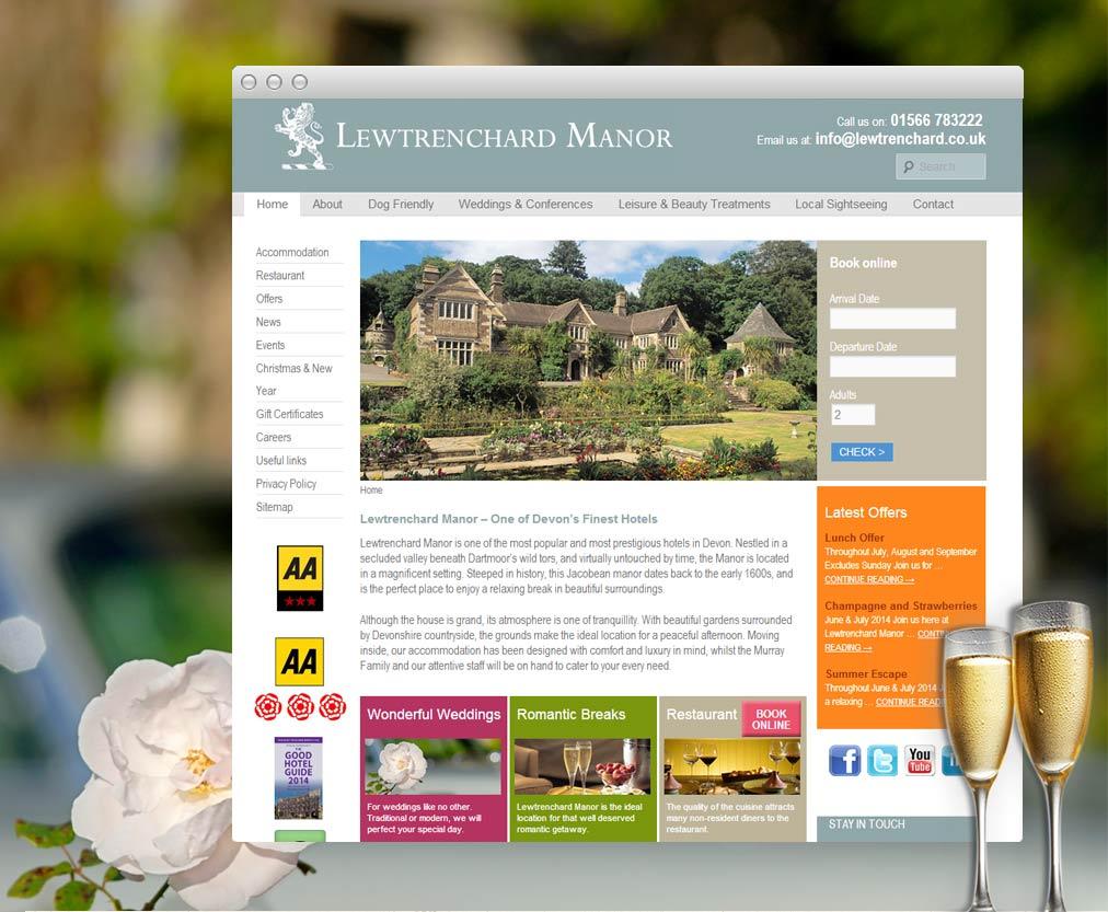Lewtrenchard Manor Website
