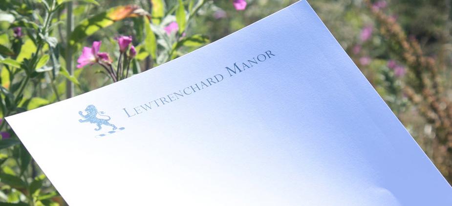 Lewtrenchard Manor Branding