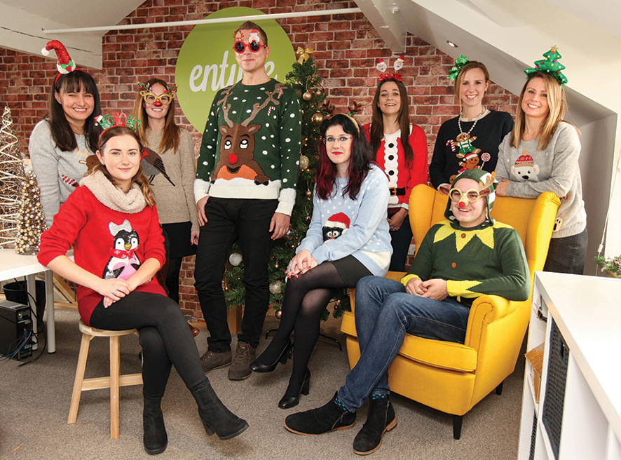 Entyce Office Christmas Jumpe Day