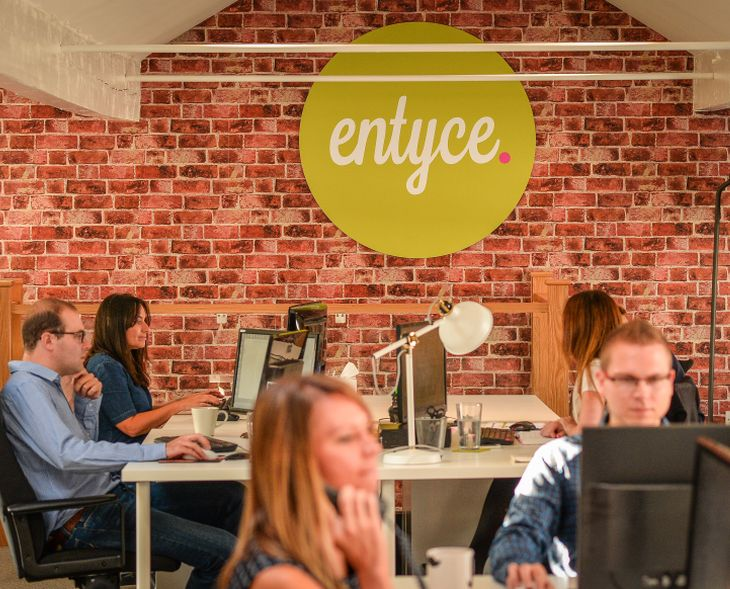 Entyce team in new office