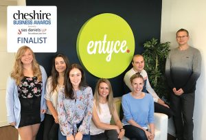 Entyce shortlisted for two Cheshire Business Awards