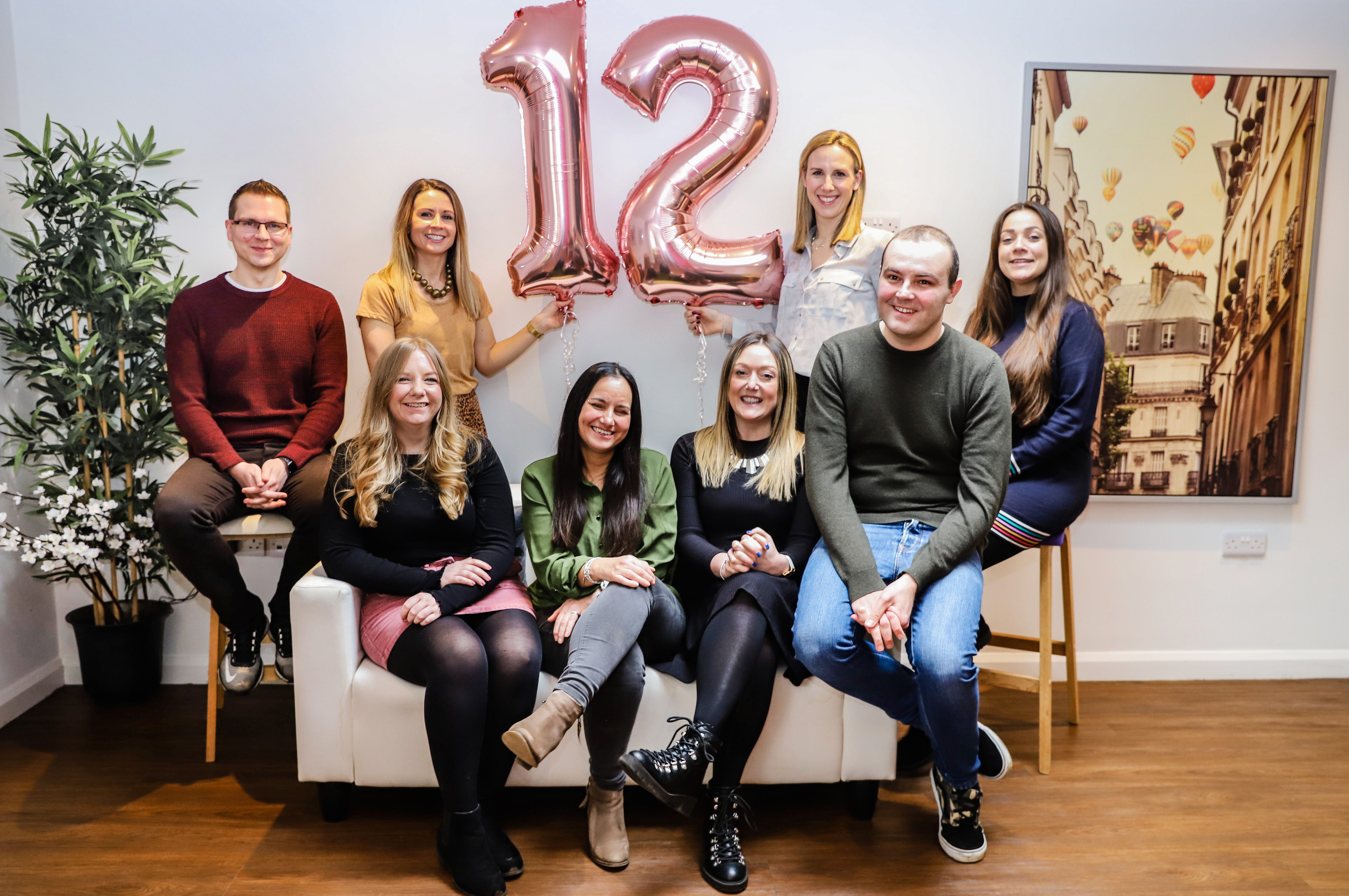 Entyce team celebrating 12th birthday