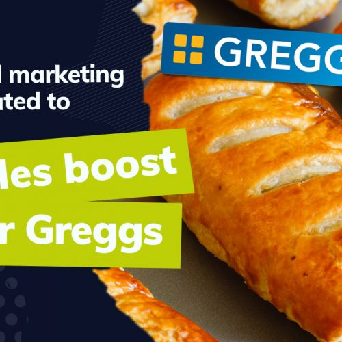 How has Greggs' digital marketing efforts produced record sales?
