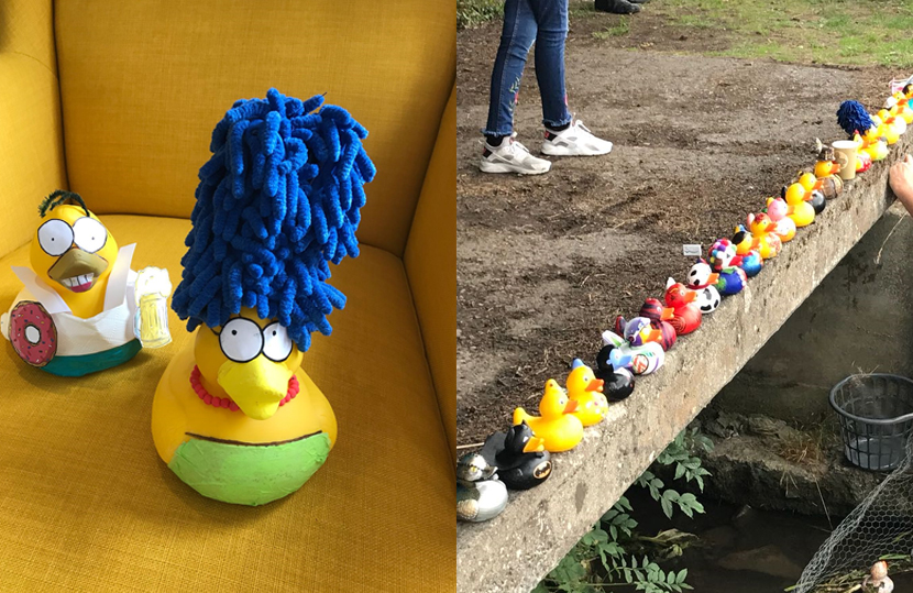 Homer and Marge Duck Race