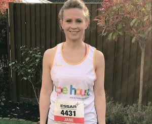 Jane successfully completes the Chester Half Marathon