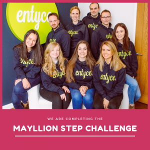Entyce takes on step challenge for National Walking Month