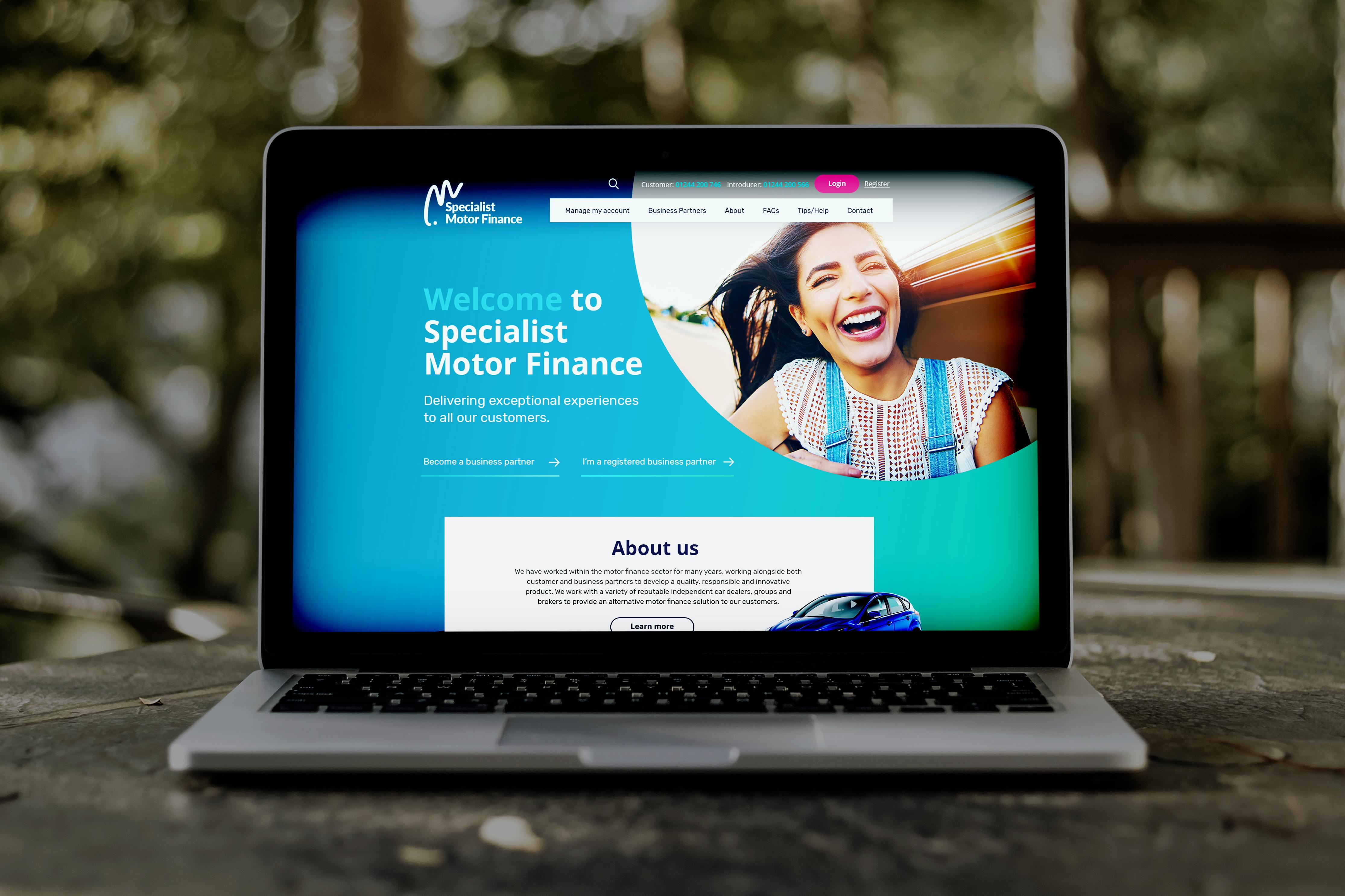 Specialist Motor Finance's new website